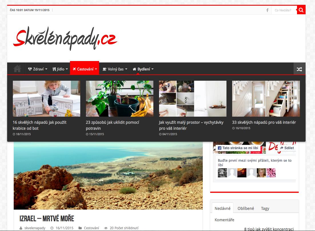 Webové stránky Skvělé nápady